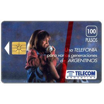 Telecom Argentina - Girl at phone, 100 pulsos
