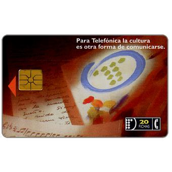 Phonecard for sale: Telefonica de Argentina - Culture, poetry, design, music, 20 fichas