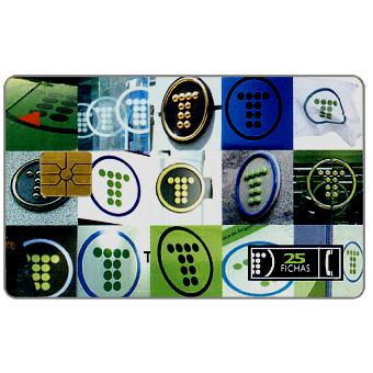 Phonecard for sale: Telefonica de Argentina - Logos, 25 fichas