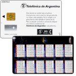 The Phonecard Shop: Telefonica de Argentina - Calendar 1996, 20 fichas