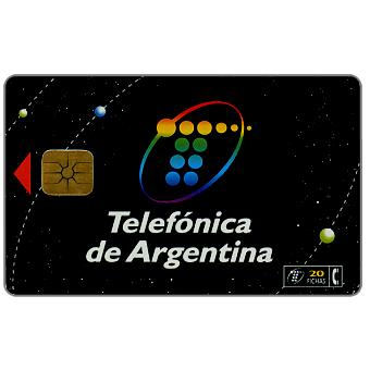 Phonecard for sale: Telefonica de Argentina - New logo, 20 fichas