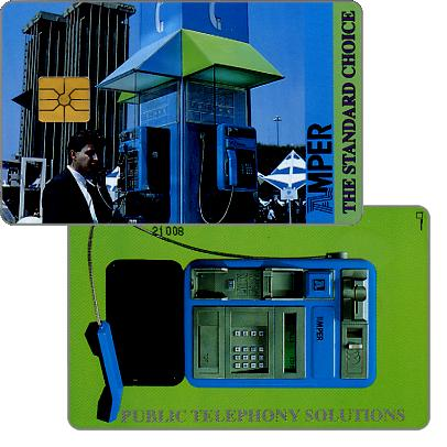 Phonecard for sale: Telefonica de Argentina, Amper - The Standard Choice, serial number 5 digits