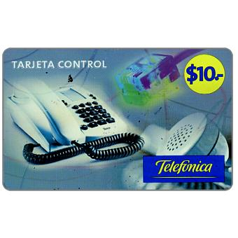 Phonecard for sale: Telefonica - Tarjeta Control, $10, value in big digits