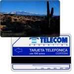 The Phonecard Shop: Telecom Argentina - Jujuy Cactus, Complimentary 100 pulsos