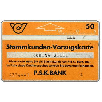 PSK Stammkunden Vorzugskarte 2, 910A, 50 units