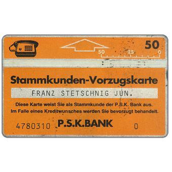 PSK Stammkunden Vorzugskarte 3, 011E, 50 units