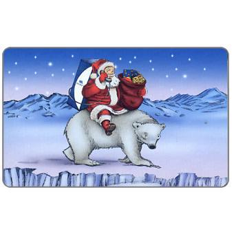 Mobika - Christmas 2002, Santa and bear, 25 units