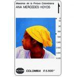 "The Phonecard Shop: Telecom - Maestros de la Pintura Colombiana, Ana Mercedes Hoyos, ""Zenaida"", $5.500"