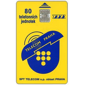 Telecom Praha logo, 80 units