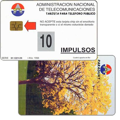 The Phonecard Shop: Antelco, National tree, Lapacho en flor, 10 impulsos
