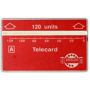Phonecard for sale: Antelco, red & silver, logo, 910A, 120 units