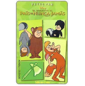 The Phonecard Shop: Disney's Peter Pan 4, Bs. 3000