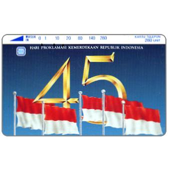 Perumtel Indosat - 45 years of Indonesia independence, 280 units