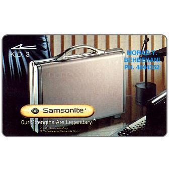 The Phonecard Shop: Morad Y. Behbehani, Samsonite cases, 15KWTB, K.D.3