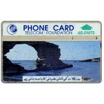 Phonecard for sale: Telecom Foundation, stone arch on sea, 410C, 60 units