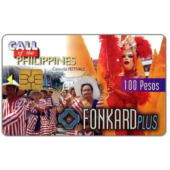 PLDT - Colorful Festivals, exp. 9.30.99, 100 Pesos