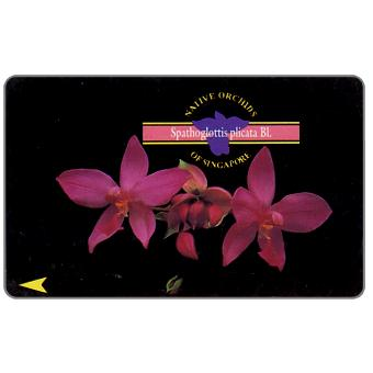 The Phonecard Shop: Singapore, Native Orchids, Spathoglottis plicata, 67SIGE, $10