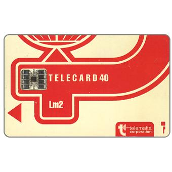 The Phonecard Shop: Definitive, code C3B+6 stamped digits, chip SC-7, 40 units