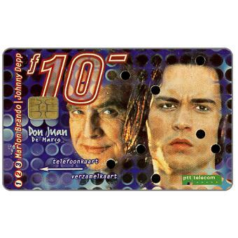 The Phonecard Shop: Netherlands, Moviestars, Don Juan de Marco, Marlon Brando and Johnny Depp, FL 10