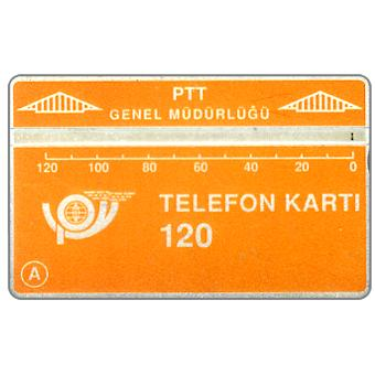 The Phonecard Shop: Turkey, Yellow card, shiny black reverse, 903C, 120 units