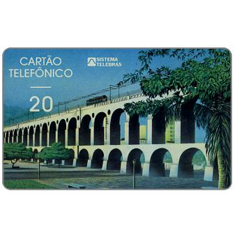 The Phonecard Shop: Sistema Telebras - Arcos da Lapa, Thomas de La Rue, 20 units