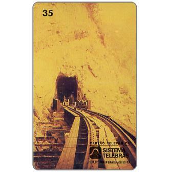 The Phonecard Shop: Sistema Telebras - Old photo, Tunel do Rochedo, 35 units