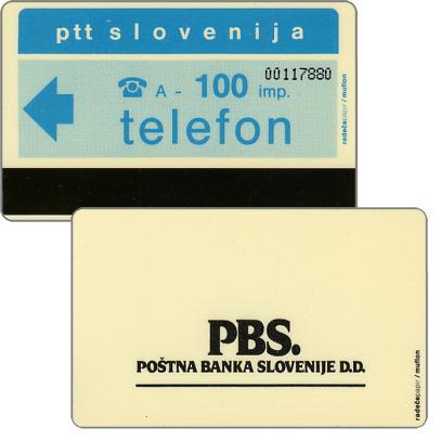 The Phonecard Shop: PBS Bank, 100 units
