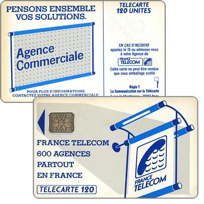 "The Phonecard Shop: Definitive ""600 Agences"", text ""La Communication…"", chip SC-6 without frame, 120 units"