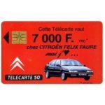 The Phonecard Shop: Citroen 7000F, 50 units
