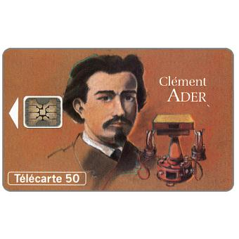 The Phonecard Shop: Figures of telecommunications 6, Clement Ader, 03/94, chip SC-5, 50 units