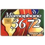 """Phonecard for sale: 3672 """"Duo"""", 09/93, chip GEM, 50 units"""