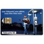 Phonecard for sale: Phone booth, guitar, chip SC-7o, 50 units