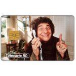 Phonecard for sale: Telephone & cinema 12, Christian Clavier, chip GEM, 50 units