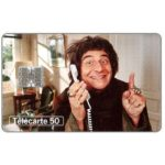 Phonecard for sale: Telephone & cinema 12, Christian Clavier, chip SC-7, 50 units