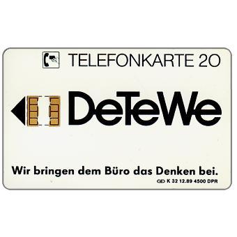 The Phonecard Shop: DeTeWe, 20 units