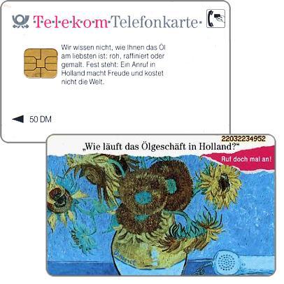 The Phonecard Shop: Olgeschaft in Holland, chip 41, 50 DM