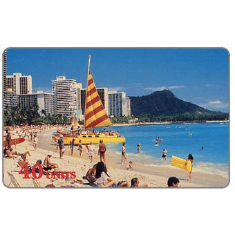 The Phonecard Shop: Global One - Hawaii - Waikiki Beach, 40 units