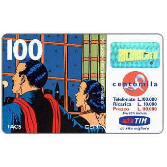 "The Phonecard Shop: TIM - Mandrake and Narda at window, ""La vita migliora"", 100 units"