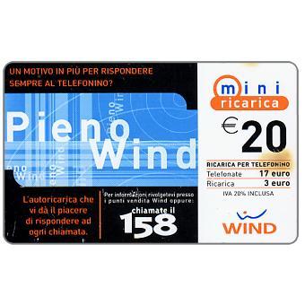 The Phonecard Shop: Wind - Pieno Wind, € 20