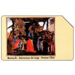 Phonecard for sale: Botticelli - Adorazione dei Magi, Christmas '90, Mantegazza, 31.12.92, L.5000