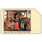 Phonecard for sale: Botticelli - Adorazione dei Magi, Christmas '90, Technicard, 31.12.92, L.5000