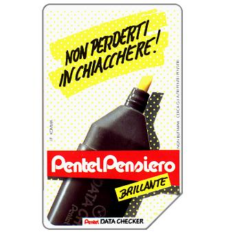 Phonecard for sale: Pentel Data Checker, 30.06.93, L.5000