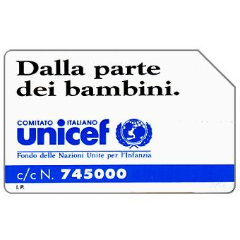 Phonecard for sale: Unicef, 30.06.93, L.10000