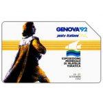 The Phonecard Shop: Italy, Genova 92, Esposizione Mondiale di Filatelia Tematica, 31.12.93, L.5000