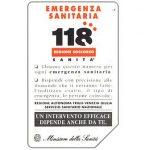 The Phonecard Shop: Italy, 118 Emergenza sanitaria, 31.12.94, L.5000