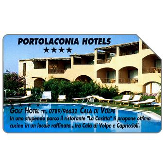 Phonecard for sale: Portolaconia Hotels, Golf Hotel Cala di Volpe, 30.06.95, L.10000