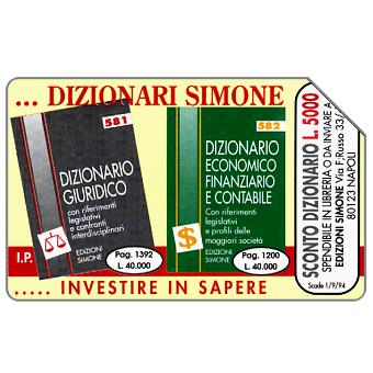 Phonecard for sale: Dizionari Simone, 31.12.95, L.10000