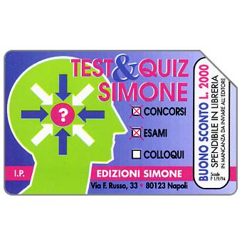 Phonecard for sale: Test & Quiz Simone, 31.12.95, L.10000
