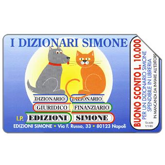 Phonecard for sale: I Dizionari Simone, 31.12.95, L.10000