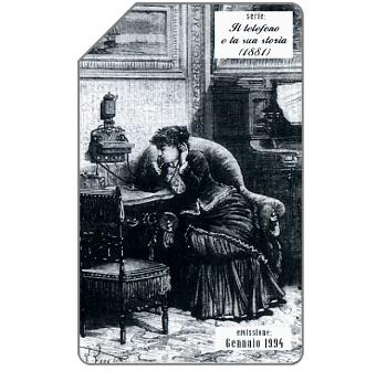 Phonecard for sale: Il telefono e la sua storia, 1881, 31.12.95, L.10000